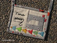 Friday Finish: Modern Quilt Guild Nametag Swap | BADLANDS QUILTS: Rugged & Refined