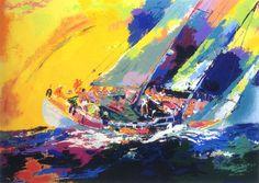 Hawaiian Sailing - Leroy Neiman - painting