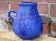 Hoy Heyne Keramik Design Vase No.32  60s Blue WGP Midcentury Vintage Modernist