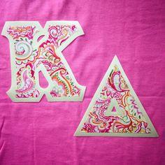 #KappaDelta #KD #sorority #fraternity #newletters #customgreek #SomethingGreek | Create your own in our letter design center!