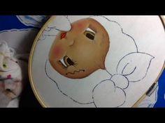 Pintura en tela niña lavando # 1 con cony - YouTube
