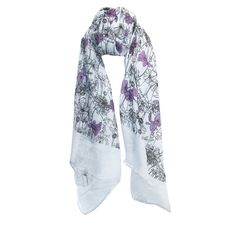 CTM Women's Color Changing Floral Scarf