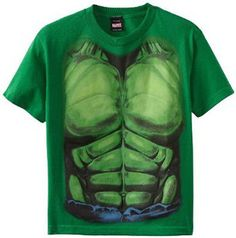 Marvel Hulk Smash Muscles Chest Costume Tee T-Shirt Suit Boys Kids Youth