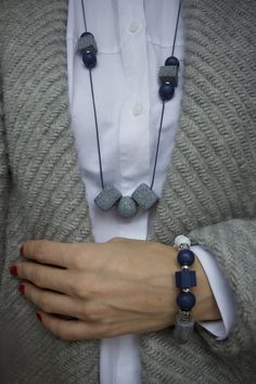 Handmade necklace and bracelet. You can choose either together or separately.