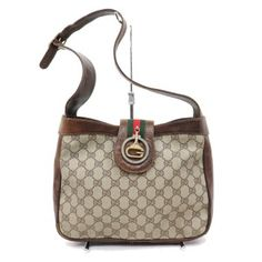 53e940e9b36 Gucci Hobo Shoulder Early Style Excellent Vintage Great Gold Clasp Shoulder  Bag Gucci Shoulder Bag
