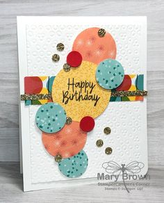 Read all of the posts by stampercamper on StamperCamper's Corner Homemade Birthday Cards, Homemade Cards, Unique Cards, Creative Cards, Paper Cards, Folded Cards, Printed Balloons, Stamping Up Cards, Card Tutorials