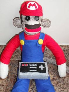 OMG! its a mario sock monkey!!!