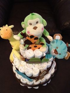 Animal Theme Diaper Cake