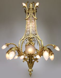 Chandelier Lighting, Chandeliers, Antique Brass Chandelier, I Saw The Light, Belle Epoque, Frosted Glass, Cut Glass, Glass Shades, Bronze