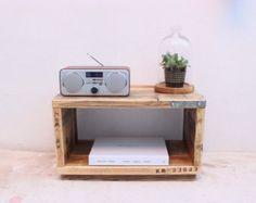 ANGSTROM  Reclaimed Wood Side Table  Handmade & by OldManAndMagpie