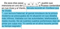 De Pablo Neruda y Pablo Picasso