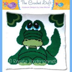 (4) Name: 'Crocheting : Cuddly Critters Baby Alligator Blanket