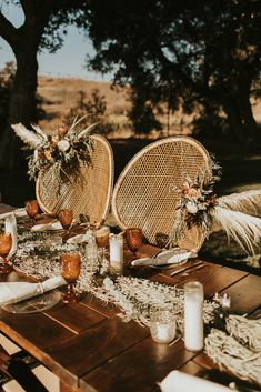 Peacock Chairs and Full Size Farm Tables | Photography: Briana Mary
