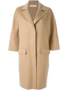 Marni Beige Coat, Mid Length, Marni, Sleeve Styles, Duster Coat, Cashmere, Ralph Lauren, Elegant, Classic