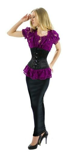 d51f2887f05 Long tight hobble skirt and corset