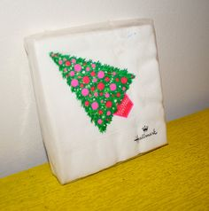 Vintage Hallmark Christmas Napkins NOS unopened 1970s by poetsy, $4.00