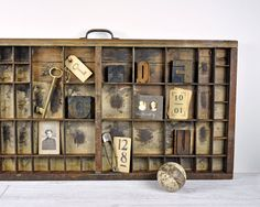 Vintage Letterpress Drawer / Printers Drawer / by havenvintage, $46.00  Do you have this?
