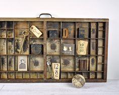 Vintage Letterpress Drawer / Printers Drawer / by havenvintage