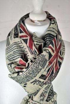 Vintage Inspired Scarf WW2 Britania Flag and by MoonLaSue on Etsy, £15.00