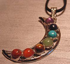 Moon Chakra Gemstone Pendant Necklace