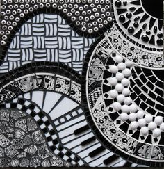 black and white Mosaics.Tangled in Glass Broken China, Beads, Stained Glass. By Shirley FralickThe World's Best Photos by squirrellyincanada - Shirleyzentangle rendered as a mosaicmust use the piano keys effect !Mosaic in black and white art for my h Mosaic Glass, Mosaic Tiles, Fused Glass, Stained Glass, Glass Art, Mosaic Crafts, Mosaic Projects, Mosaic Designs, Mosaic Patterns