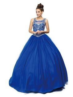 04b494ef752 Dancing Queen - 1121 Scoop Neck Beaded Quinceanera Ballgown