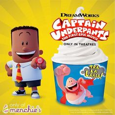 """""""You will come in to Menchies and get a delicious froyo treat in a special edition Captain Underpants cup,"""" - George Beard    Well you heard the boy    #bothell #seattle #pnw #sweettooth #summertime #frozenyogurt #sunnyday #froyo #june #treat  #awesome #chocolate #foodstagram #delicious #jokes #froyolife"""
