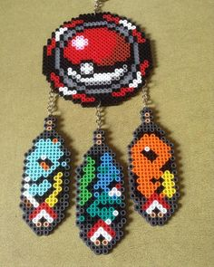 Pokemon dreamcatcher perler beads by patlife32