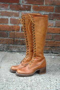 1970's Vintage Lace-Up Boots by Frye