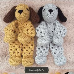 Best 11 Adorable Free Crochet Puppy Lovey Pattern Will Give You Hours Of Fun - Knit And Crochet Daily Crochet Lovey Free Pattern, Crochet Dolls Free Patterns, Baby Blanket Crochet, Crochet Baby, Free Crochet, Crochet Animals, Crochet Toys, Baby Hats Knitting, Stuffed Animal Patterns