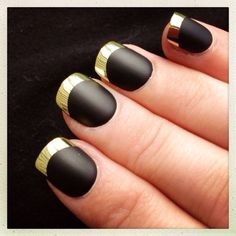 Black and gold nails...