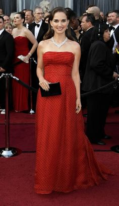 Natalie Portman-2012 oscars in vintage dior she was presenting this time she looked beautiful