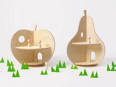 Apple & Pear Shaped Dollhouses!
