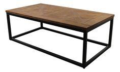 HSM Collection - Coffee table Mosaic - 120x70 cm - dingklik teak - metal/teak
