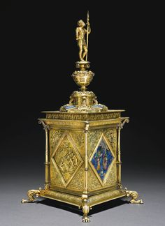 A parcel-gilt silver standing salt, unmarked, probably French or Flemish, circa 1560 | lot | Sotheby's