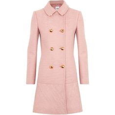 Moschino Cheap & Chic Bouclé Wool Coat ($1,240) ❤ liked on Polyvore