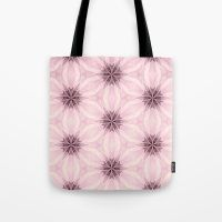 Pink Flower Lace Tote Bag