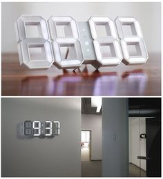 White LED clock