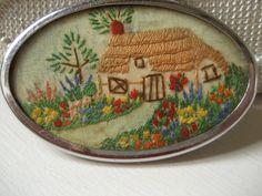 Vintage Embroidered Brooch by RubyRed06, via Flickr