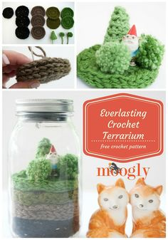 This little terrarium will never wilt and die! Crochet your own Everlasting Terrarium with Vanna's Choice and this free pattern by Tamara Kelly/Moogly!