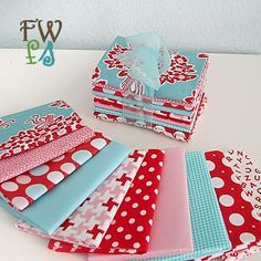 aqua and red sewing - Google Search