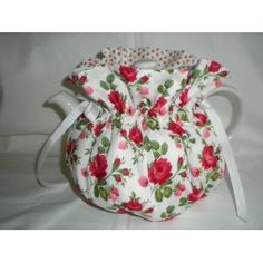 Red Roses Tea Pot Cozy (I have this pattern and made a couple of them for a friend.  So cute.)