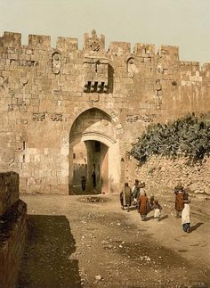 Old Pics Archive @oldpicsarchive St. Stephen's Gate in the Old City of Jerusalem, circa 1895
