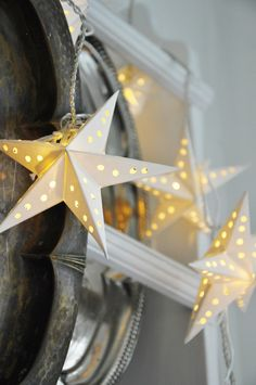 Shining stars and silver plates