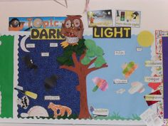 Light and Dark classroom display photo - Photo gallery - SparkleBox Class Displays, School Displays, Classroom Displays, Classroom Themes, Photo Displays, Early Years Displays, Nursery Activities, Preschool Activities, Space Activities