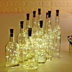[Pack of 10] LED String Lights,Wine Bottle Lights with Cork, 2 Meters with 20 LED Copper Wire String Lights for Bottle DIY Decor,Outdoor BBQ, Gathering, Party, Wedding, Holiday(Warm White): Amazon.co.uk: Lighting