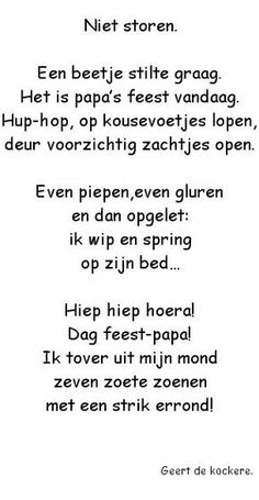 "Onderwijs en zo voort ........: 2352. Vaderdag : Versje ""Niet Storen"" Love You Dad, Mamas And Papas, Too Cool For School, Mother And Father, Happy Mothers, Kids And Parenting, Diy For Kids, Kids Playing, Fathers Day"