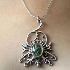 Beautiful and protective at the same time. ;-)  Real dried vervain locket