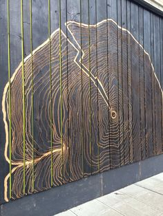 Charred wood wall in Seattle.