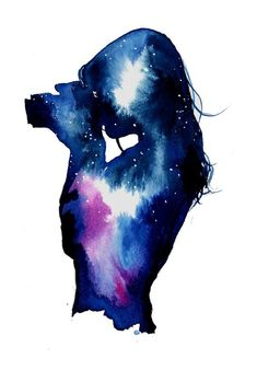 Photo de universo aquarela